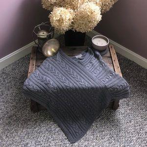 The Loft sweater poncho